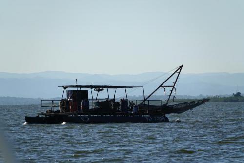 Eines der Kapenta-Fischerboote.